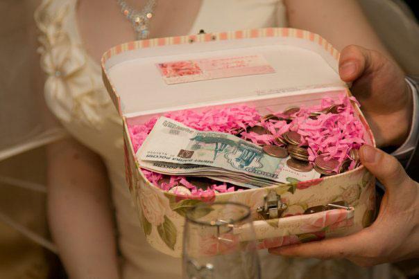 Как вручить подарок на свадьбу от большого количества друзей