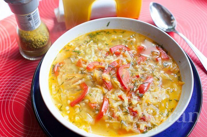 Суп с мясом помидорами перцем